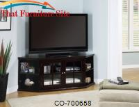 Fullerton Transitional Corner Media Unit with Glass Doors by Coaster Furniture