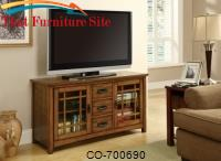 TV Stands TV Console with Windowpane Door Fronts by Coaster Furniture