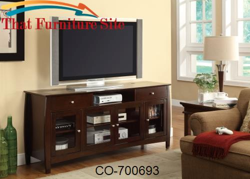 TV Stands CONNECT-IT TV Console in Dark Walnut Finish by Coaster Furni