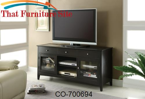 TV Stands Dark Cappuccino TV Console with CONNECT-IT Power Drawer by C