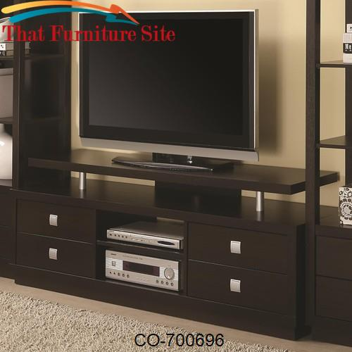 Wall Units Casual TV Console by Coaster Furniture  | Austin