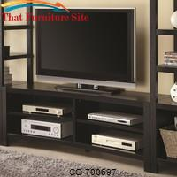 Wall Units Inverted Curved Front TV Console by Coaster Furniture