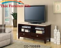 TV Stands TV Cabinet with White Marble Top by Coaster Furniture