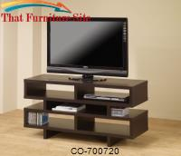 TV Stands Contemporary TV Console with Open Storage & Cappuccino Finish by Coaster Furniture