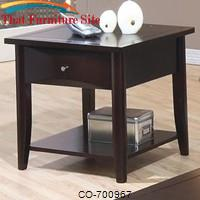 Whitehall End Table w/ Shelf & Drawer by Coaster Furniture