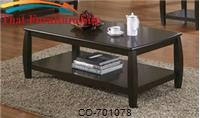 Marina Coffee Table with 1 Shelf by Coaster Furniture
