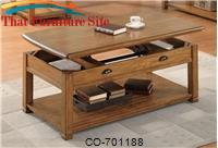 Woodside Casual Contemporary Lift Top Cocktail Table with Shelf by Coaster Furniture