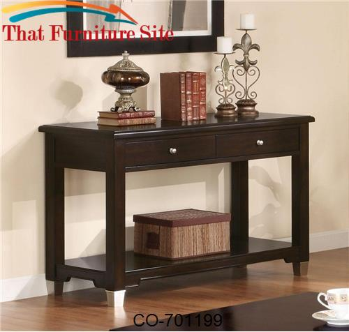 Liberty Transitional Sofa Table with Drawers and Shelf by Coaster Furn