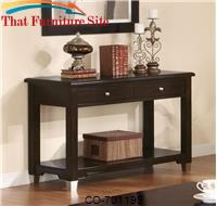 Liberty Transitional Sofa Table with Drawers and Shelf by Coaster Furniture