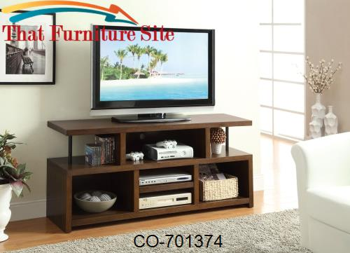 TV Stands Casual TV Console with Open Storage by Coaster Furniture  |