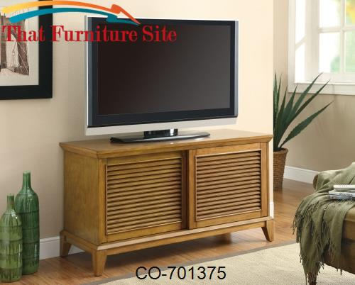 TV Stands TV Console with 2 Shelves & Sliding Doors by Coaster Furnitu