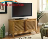 TV Stands TV Console with 2 Shelves & Sliding Doors by Coaster Furniture