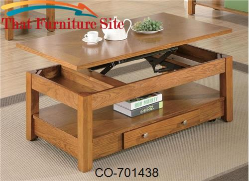 Occasional Group Lift Top Coffee Table With Storage Drawer And Shelf B - Lift top coffee table with storage drawers