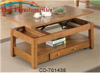 Occasional Group Lift Top Coffee Table with Storage Drawer and Shelf by Coaster Furniture