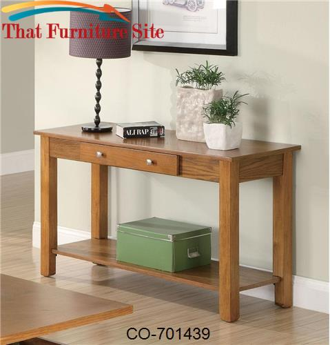Occasional Group Sofa Table with Drawer and Base Shelf by Coaster Furn