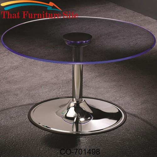 LED Transitioning LED Coffee Table with Chrome Base by Coaster Furnitu