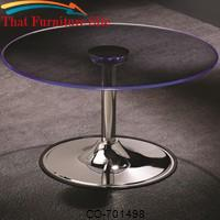 LED Transitioning LED Coffee Table with Chrome Base by Coaster Furniture
