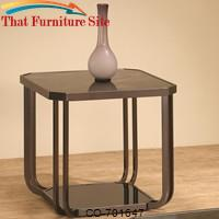 701640 End Table with Marble-Like Top by Coaster Furniture