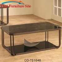 701640 Black Tempered Glass Coffee Table by Coaster Furniture