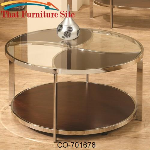 Occasional Group Contemporary Glass Top Coffee Table by Coaster Furnit