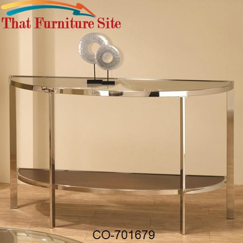 Occasional Group Contemporary Glass Top Sofa Table by Coaster Furnitur