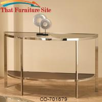 Occasional Group Contemporary Glass Top Sofa Table by Coaster Furniture