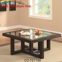 Occasional Group Contemporary Coffee Table with Tempered Glass Top by Coaster Furniture