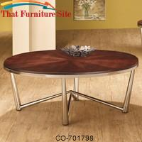 Occasional Group Contemporary Coffee Table with Brushed Nickel Base by Coaster Furniture