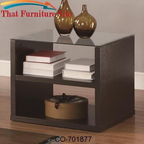 Occasional Group Contemporary End Table with 2 Shelves by Coaster Furn