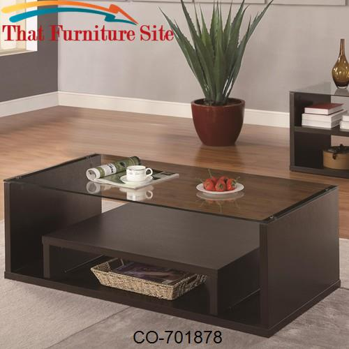 Occasional Group Cappuccino Coffee Table with Pull Out Shelf by Coaste