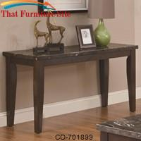 Occasional Group Casual Marble Topped Sofa Table by Coaster Furniture
