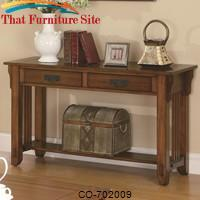Occasional Group 2 Drawer Sofa Table with Shelf by Coaster Furniture