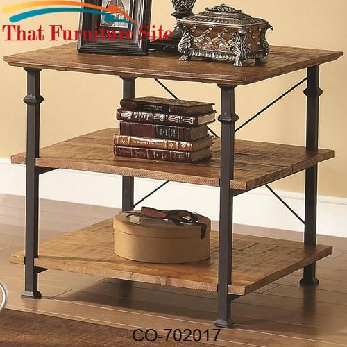 702 Occasional Mission Style End Table by Coaster Furniture  | Austin