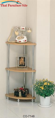 Accent Racks 3 Tier Corner Rack by Coaster Furniture  | Austin