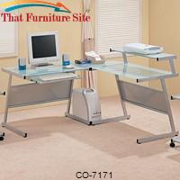 Wrightwood L-Shape Computer Desk by Coaster Furniture