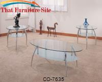 3 Piece Occasional Table Sets 3 Piece Chrome and Glass Occasional Table Set by Coaster Furniture