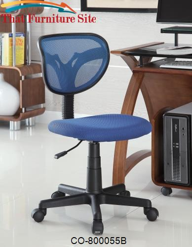 & Office Chairs Mesh Adjustable Height Task Chair by Coaster Furniture