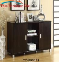 Decarie Contemporary Storage Credenza with Sliding Doors by Coaster Furniture