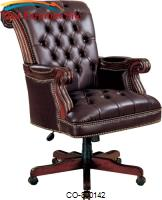 Office Chairs Traditional Leather Executive Chair by Coaster Furniture