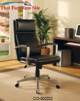 Office Chairs Contemporary Faux Leather Executive Chair by Coaster Furniture