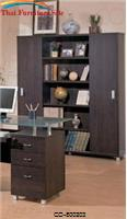 Decarie Contemporary Bookcase with Sliding Doors by Coaster Furniture