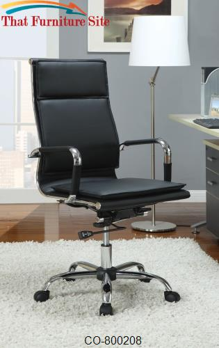 Office Chairs Black High Back Executive Chair By Coaster Furniture