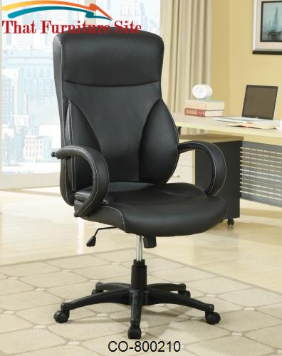 & Office Chairs High Back Executive Office Chair with Adjustable Seat He