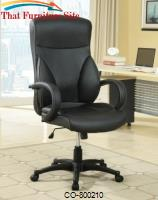 Office Chairs High Back Executive Office Chair with Adjustable Seat Height and Vinyl Upholstery by Coaster Furniture