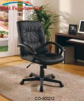 Office Chairs Casual Contemporary Faux Leather Office Task Chair by Coaster Furniture