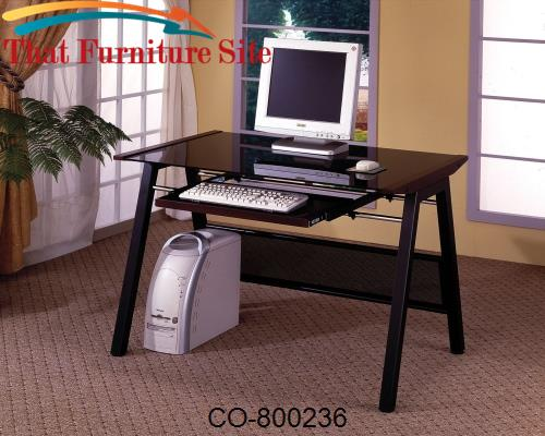 Desks Computer Desk with Keyboard Tray by Coaster Furniture  | Austin