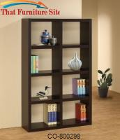 Bookcases Cappuccino Bookshelf by Coaster Furniture