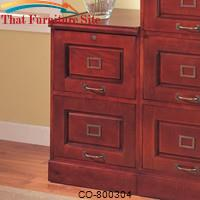 Palmetto Cherry File Cabinet with 2 Drawers by Coaster Furniture