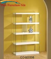 Bookcases Tempered Glass Display Cabinet by Coaster Furniture