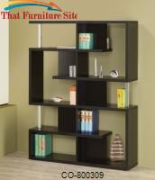 Bookcases Modern Black Finish Bookcase by Coaster Furniture